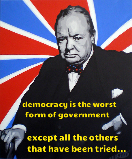 W.Churchill on democracy