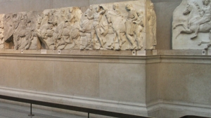 Parts of the Parthenon frieze in the British Museum