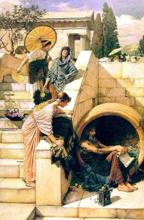 John William Waterhouse: Diogenes [1905]