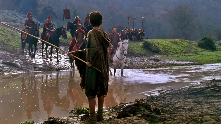 G.J.Caesar on the north side of the river Rubicon