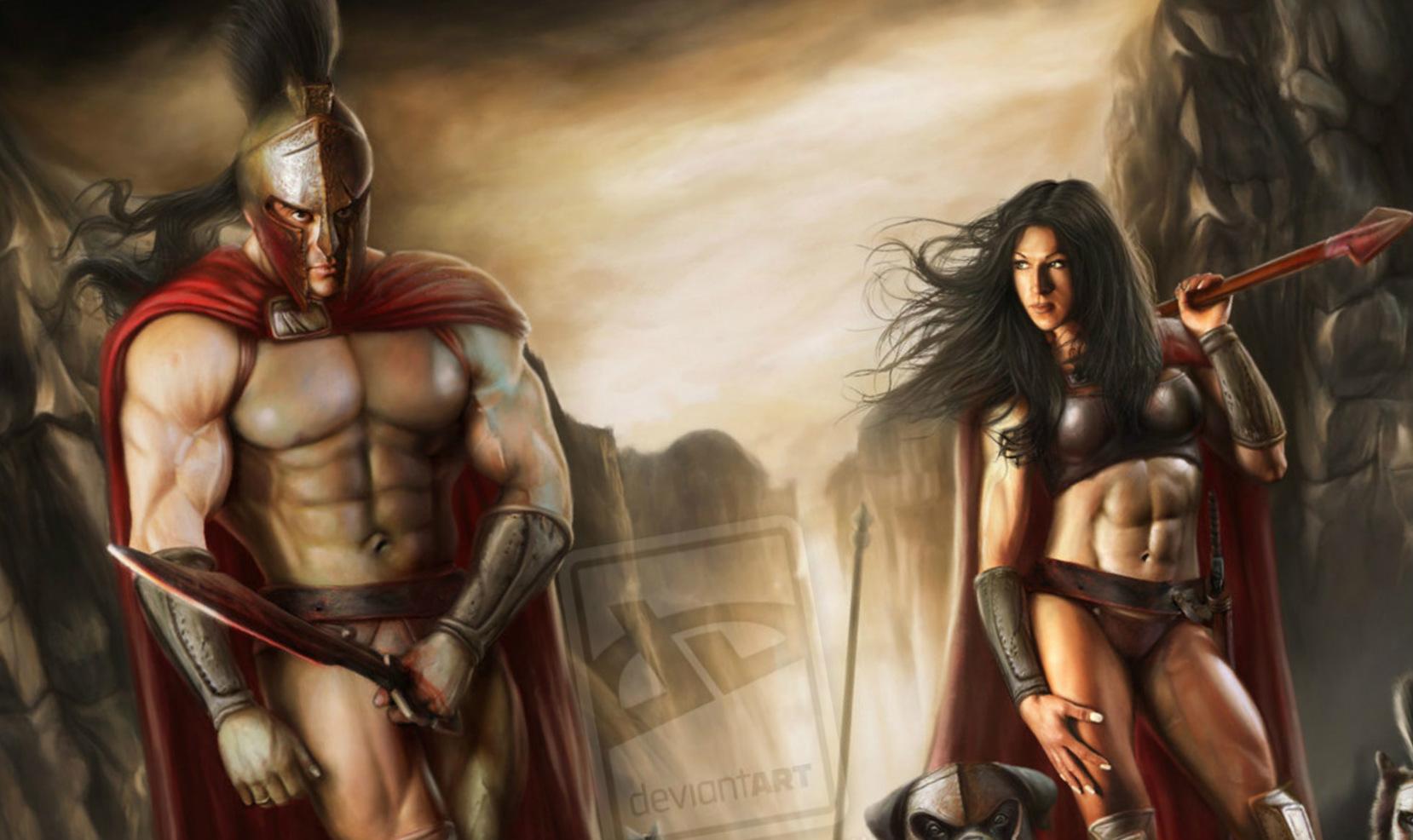 Spartan nude wrestling