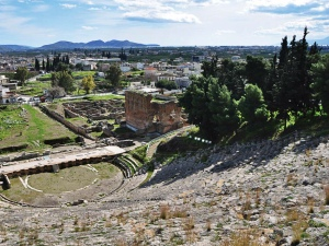 View of Argos from the top of the theatre