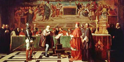 Galileo before the Holy Office (detail from a painting by Joseph-Nicolas Robert-Fleury)