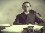 Goebbels in his office