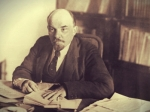 Lenin in his office