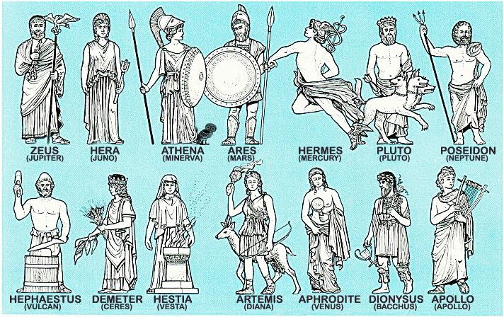 GODS OF mt OLYMPUS